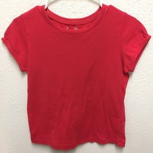 Faded glory 100% cotton Red short sleeve